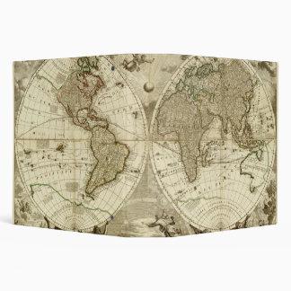 1708 World Map by Jean Baptiste Nolin 3 Ring Binder