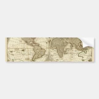 1708 World Map by Jean Baptiste Nolin Bumper Sticker