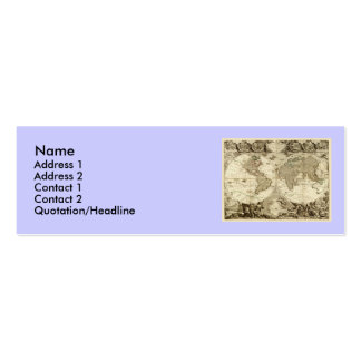 1708 World Map by Jean Baptiste Nolin Double-Sided Mini Business Cards (Pack Of 20)