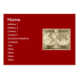 1708 World Map by Jean Baptiste Nolin Large Business Cards (Pack Of 100)
