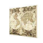 1708 World Map by Jean Baptiste Nolin Canvas Print