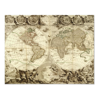 1708 World Map by Jean Baptiste Nolin Card
