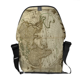 1708 World Map by Jean Baptiste Nolin Courier Bags