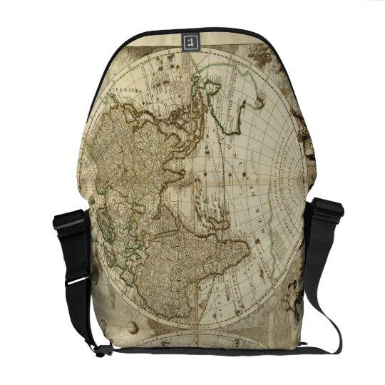1708 World Map by Jean Baptiste Nolin Messenger Bag