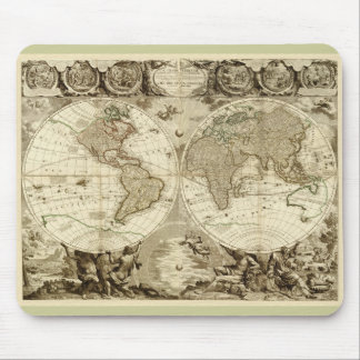 1708 World Map by Jean Baptiste Nolin Mouse Pad