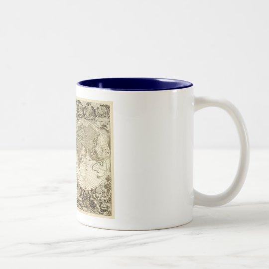 1708 World Map by Jean Baptiste Nolin Two-Tone Coffee Mug