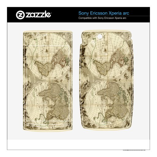 1708 World Map by Jean Baptiste Nolin Xperia Arc Skins