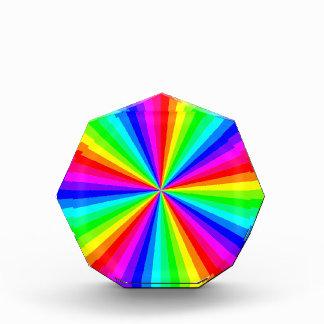 1709-12-color-60gon-vector RAINBOW SWIRLS COLOR GR Acrylic Award