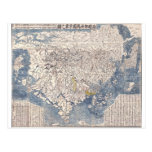 1710 Japanese Buddhist Map of World Post Cards