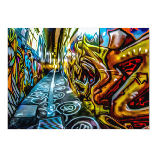 1711 COLORFUL STREET GRAFFITI GANGSTER CITY WALLS CARD