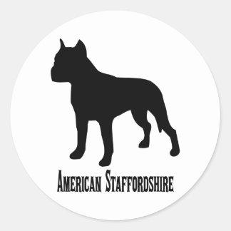 1715112006 American Staffordshire Terrier (Animale Classic Round Sticker