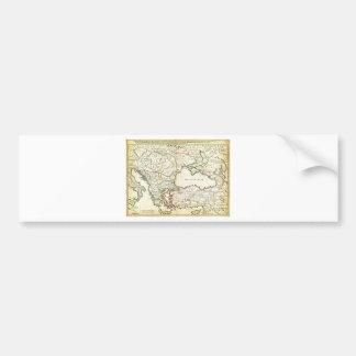 1715 De LIsle Map of the Eastern Roman Empire und Bumper Sticker