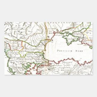 1715 De LIsle Map of the Eastern Roman Empire und Rectangular Sticker