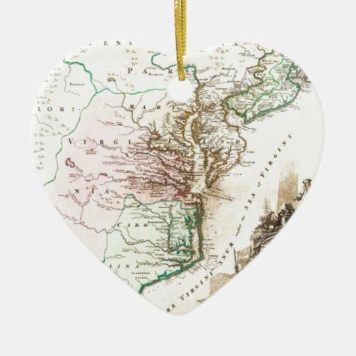 1715_Homann_Map_of_Carolina, _Virginia, _Maryland_ Ornatos