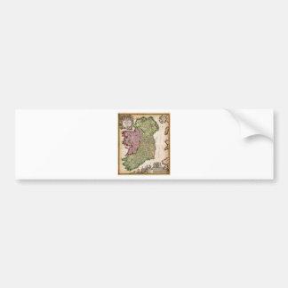 1716 Homann Map of Ireland Geographicus Irelan Bumper Sticker