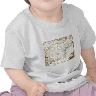 1716 Homann Map of New England Nova Anglia Geo T-shirt