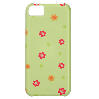 171__busan-beach-2-paper-1 RED ORANGE FLOWERS CART Cover For iPhone 5C