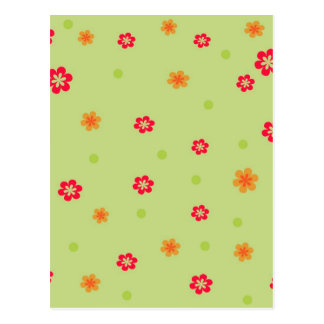 171__busan-beach-2-paper-1 RED ORANGE FLOWERS CART Postcard