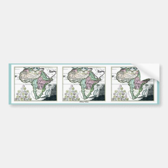 1720 Africa Vetus Map Bumper Sticker