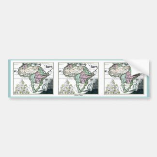 1720 Africa Vetus Map Bumper Stickers