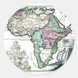 1720 Africa Vetus Map Classic Round Sticker
