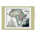 1720 Africa Vetus Map Greeting Card