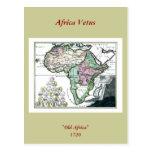 1720 Africa Vetus Map Postcard