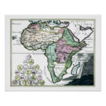 1720 Africa Vetus Map Print