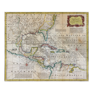 1720 Chart of the West Indies