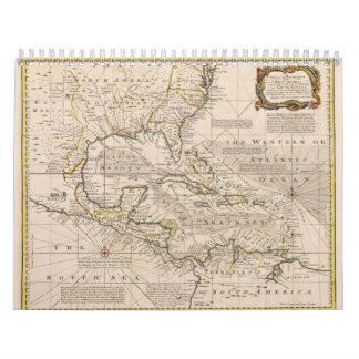1720 Map of the West Indies by Emanuel Bowen Calendar
