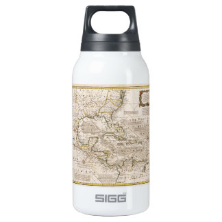 1720 Map of the West Indies by Emanuel Bowen Insulated Water Bottle