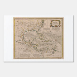 1720 Map of the West Indies by Emanuel Bowen Lawn Sign