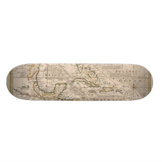 1720 Map of the West Indies by Emanuel Bowen Skateboard