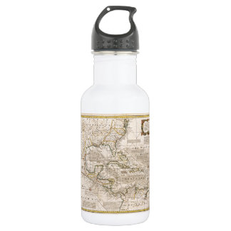 1720 Map of the West Indies by Emanuel Bowen Stainless Steel Water Bottle