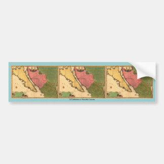 1720 mapa - nouvelle Caroline del ou de Californie Pegatina Para Auto