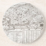 1721 Chatelain Plan or Map of Rome Italy Geogra Coaster