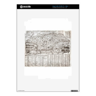 1721 Chatelain Plan or Map of Rome Italy Geogra Skin For iPad 2
