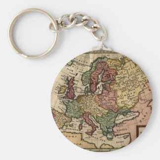 1721 Map of Europe Keychain