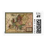 1721 Map of Europe Postage Stamps