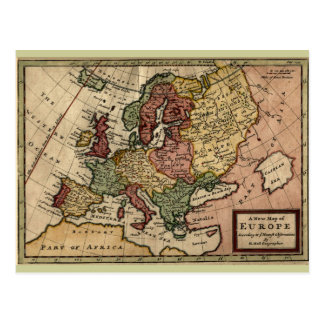 1721 Map of Europe Postcard