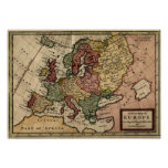 1721 Map of Europe Poster