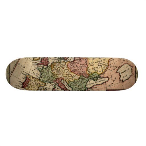 1721 Map of Europe Skate Deck