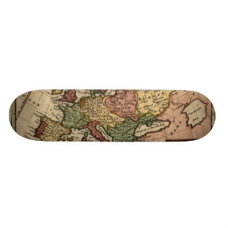 1721 Map of Europe Skateboards