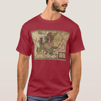 1721 Map of Europe T-Shirt