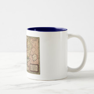 1721 Map of Europe Two-Tone Coffee Mug