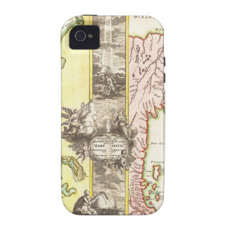 1725 Homann Map of the Caspian Sea and Kamchatka Vibe iPhone 4 Cover