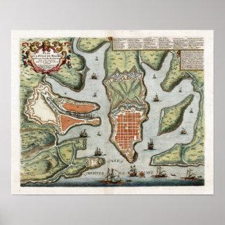 1725 Malta Map Poster