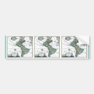1725 South and North America Map Car Bumper Sticker