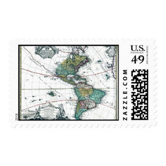 1725 South and North America Map Postage Stamps