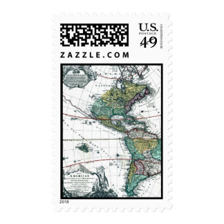 1725 South and North America Map Postage